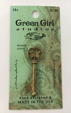 Green Girl Studios Butterfly Key Pendant Brass Finish