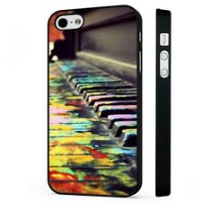 Piano Colourful Art Music BLACK PHONE CASE COVER fits iPHONE