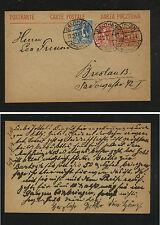Upper  Silesia  18 & 20  on uprated postal card 1921          DA0526