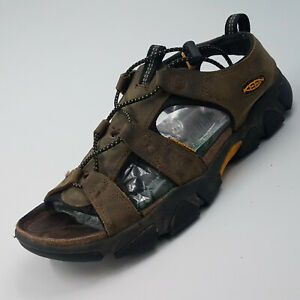 Keen Sandal Fisherman Comfort Leather Brown Rubber Sole Water   10 US 40.5 Eur