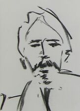 JOSE TRUJILLO Artist ORIGINAL CHARCOAL DRAWING PORTRAIT SKETCH DECOR ARTWORK