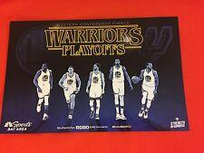 Cheer Card Authentic Fan Golden State Warriors Playoffs Spurs 2017 New SGA