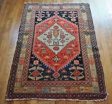 "Antique Persian Hamedan Malayer Rug 3'4""x4'6"""