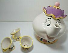 1990s Disney 'Beauty & The Beast' Mrs Potts Large Ceramic Teapot. Treasure Craft
