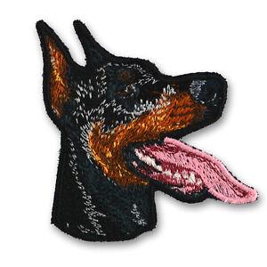 Aufnäher Bügelbild Applikation DOBERMANN M1 Hund Wachhund zum aufbügeln