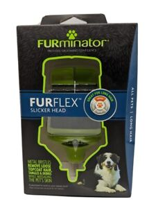 FURminator Fur Flex Slicker Head Metal Bristles Brush For All Pets Long Hair