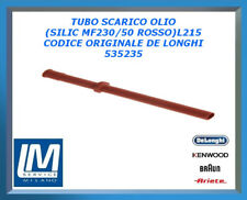 TUBO SCARICO OLIO(SILIC MF230/50 ROSSO)L215 535235 DE LONGHI ORIGINALE