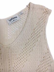Crochet top boho ivory white Lee Cooper beach hippie festival fringe tassels Med