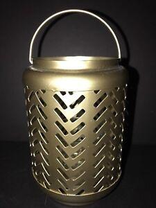 "YANKEE CANDLE Metal Arrow Lantern Votive Holder 5.75"" x 4"" NWT"