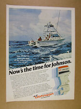 1978 Johnson 235 outboard motor Robalo off-shore Fishing Boat photo print Ad