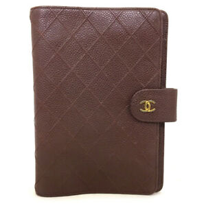 Authentic CHANEL Quilted Matelasse Caviar Skin Agenda Notebook Cover /70888