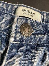 Forever 21 Distressed Acid Wash Shorts Size 26 Blue Wash Denim Short / High Rise