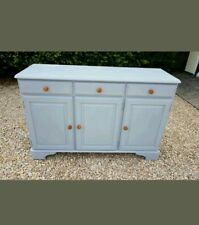 HAND PAINTED SOLID PINE DUCAL SIDEBOARD IN COLOUR OF SKYLIGHT FARROW AND BALL