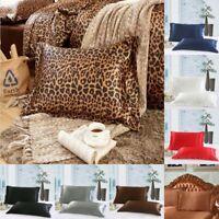 Satin Silk Pillow Cases Cover Home Decor Luxury Pillowcases Queen Size