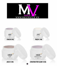 PACK GEL NDED BASE CONTRUCTOR CLEAR - FINALIZADOR - BLANCO FRANCES (FRESH)  UÑAS