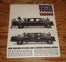 1963 Original Dodge Truck Crew Cab Sales Brochure 63