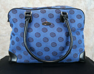 Ricardo of Beverly Hills Westfield Shopper Tote Carry On Shoulder Bag Blue CLEAN