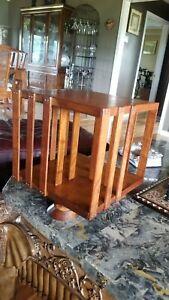 Antique Vintage Table Top Mahogany Revolving Bookcase Restored