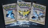 SEALED 3X Fossil 1ST EDITION Booster Packs (Artset) Pokemon Cards - LIGHT