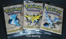 SEALED 3X Fossil 1ST EDITION Booster Packs (Artset) Pokemon Cards - LIGHT