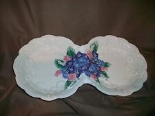 (Imperfect) Fitz & Floyd Classics Victorian Lace Divided Double Serving Bowl