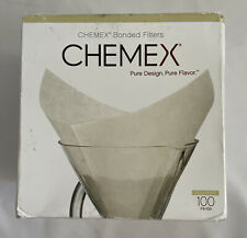 Chemex Pure Design Flavors Bonded Coffee Filters White Squares FS-100 100 Filter