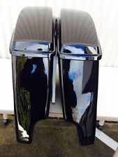 """NEW 2014 VIVID 4.5"""" HD STRETCHED HARD SADDLEBAGS EXTENDED HARLEY SADDLE BAGS"""
