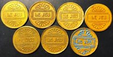 Lot of 7x Le Jeu Gaming Tokens - Great Condition