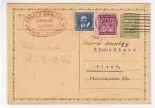 CZECHOSLOVAKIA: 1937 UPRATED POSTAL STATIONERY TO AUSTRIA (C28537)