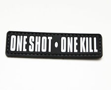 Morale Patch - Special Ops Gear - ONE SHOT ONE KILL - SWAT colors - PVC