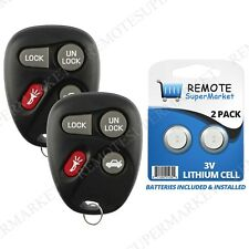 2 Replacement for Oldsmobile 88 98 Alero Aurora Remote Car Keyless Entry Key Fob