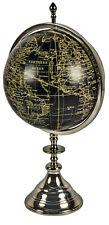 Black & Silver World Globe On Aluminium Stand MCR003