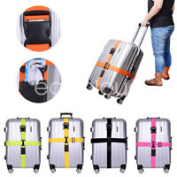 Adjustable Travel Luggage Belt Packing Strap Baggage Suitcase Secure Cross Belt