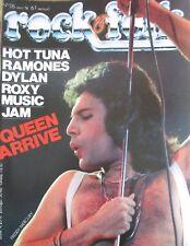 MAGAZINE ROCK & FOLK N° 135 de 1978 QUEEN RAMONES DYLAN ROXY MUSIS JAM HOT TUNA