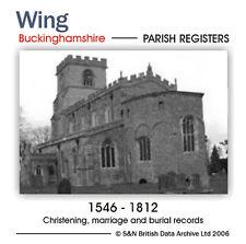 Buckinghamshire, Wing Parish Registers 1546-1812 (Parish Records)