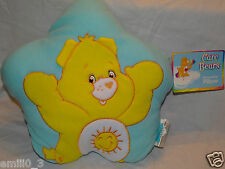 NEW WITH TAG YELLOW CARE BEARS DECORATIVE PILLOW PLUSH