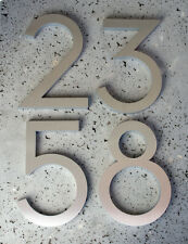 """Modern House Numbers Modern Font Recycled Aluminum 6"""""""