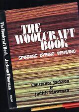 2lb SPINNING WEAVING DYEING WOOLCRAFT Handbook 192 big pg EC hardcover