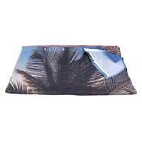 3D Beach Coconut Tree Print Waterproof Polyester Bathroom Curtain Decorative WE