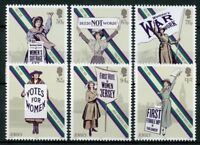 Jersey 2018 MNH Votes for Women Women's Suffrage 6v Set Voting Elections Stamps
