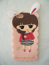 Iphone 6 Cover Case Quality Silicone Gel Cute girl Rabbit ears Australia stock
