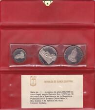 Equatorial Guinea 1970 3 Coin Silver Proof Set