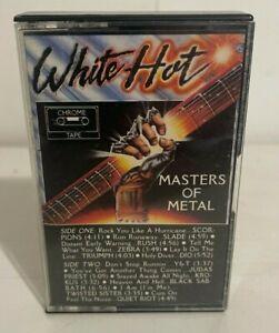 White Hot Masters of Metal Hard Prog Heavy Rock Cassette Tape Black Sabbath KTEL