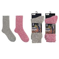 Womens Thick Wool Socks Ladies Hiking Walking Camping Warm Festival Boot Sock