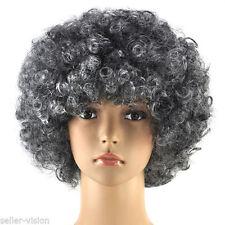 Perruques et toupets gris bouclés pour femme