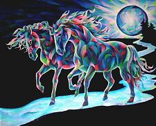 MOON DANCERS  8x10   HORSE Print from Artist Sherry Shipley