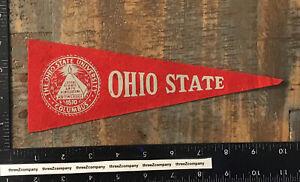 Vintage OHIO STATE UNIVERSITY College Mini Felt Pennant