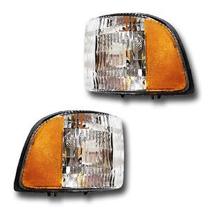 Fits 94-02 Dodge Ram 1500 2500 3500 Pickup Signal Parking Side Marker Light Pair