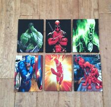 Last Batch Of These 6 X Dc & Marvel  Canvas Pictures