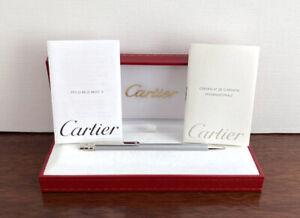 Cartier Must de Cartier Ballpoint pen. Box & Papers. Mint.